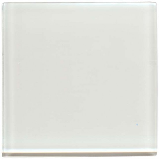 White glass placemats and coasters for Back painted glass tile
